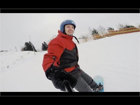 В Европу на один день.  Катаюсь на сноуборде.  Голдап, Польша.