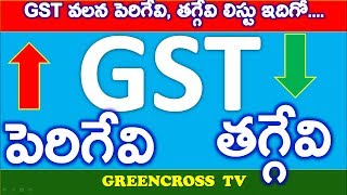 GST ప్రభావం తో పెరిగిన మరియు తగ్గిన సరుకుల వివరాల జాబితా ఇదిగో....GOODS AND SERVICE TAX  goods and service tax GST is a consumption based tax levied on sale, manufacture and consumption on goods & services at a national level. This tax will be substitute for all indirect tax levied by state and central government. Exports and direct tax like income tax, corporate tax and capital gain tax will not be affected by GST. GST would apply to all goods other than crude petroleum, motor spirit, diesel, aviation turbine fuel and natural gas.Smooth Ridin Huma-Huma