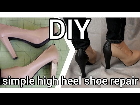 DIY Simple High Heel Shoe Repair