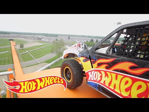 jump - The Yellow Driver of Team Hot Wheels breaks the world record for distance jump in a four-wheeled vehicle at the Indianapolis 500 on May 29th 2011. Watch as t...