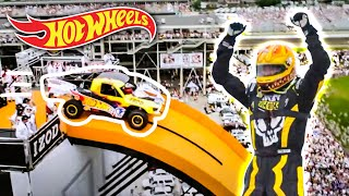 Video Team Hot Wheels -  The Yellow Driver's World Record Jump (Tanner Foust) | Hot Wheels MP3, 3GP, MP4, WEBM, AVI, FLV Oktober 2017