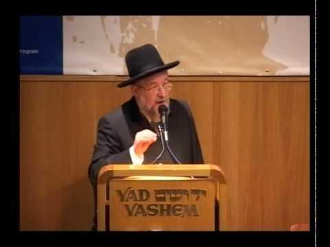 הרב לאו, נושא דברים ביד ושם על חשיבות אחדות ישראל
