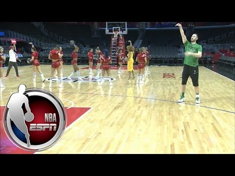 Video: Celtics' Gordon Hayward puts up shots at Staples Center   ESPN