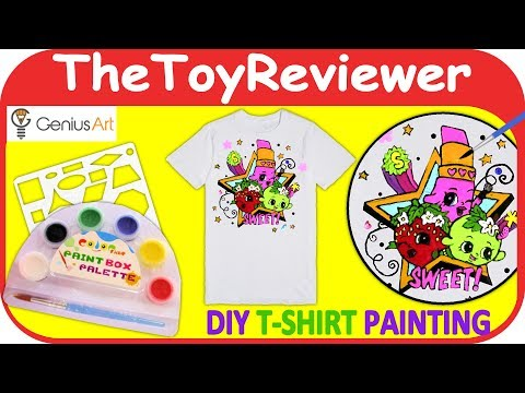 Genius Art DIY T-Shirt Painting Kit Craft Art Paint Picture Unboxing Toy Review by TheToyReviewer