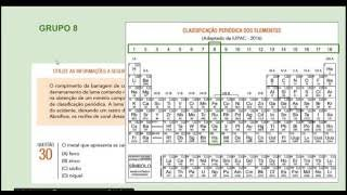 Descrição: Resolução da questão 30, da prova de Química do Vestibular da UERJ, 1o exame de qualificação, para o ano letivo de 2017 - Tabela Periódica ...