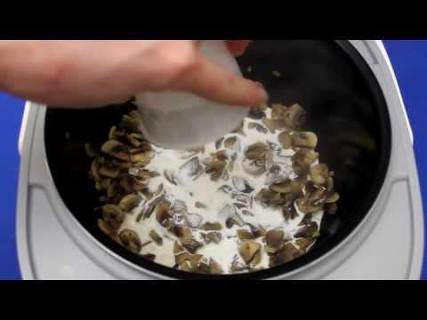 Рецепт приготовления пасты с шампиньонами в сливочном соусе в мультиварке vitek vt-4215 bw