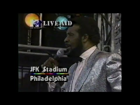The Four Tops - Reach Out/I'll Be There (MTV - Live Aid 7/13/1985)