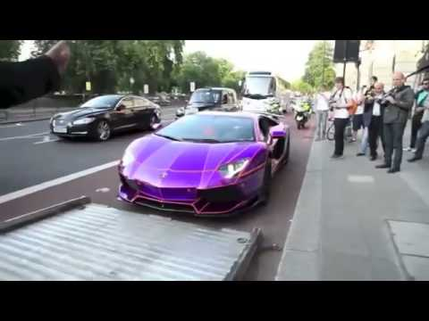 purple lamborghini aventador confiscated by police