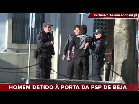 HOMEM DETIDO À PORTA DA PSP DE BEJA