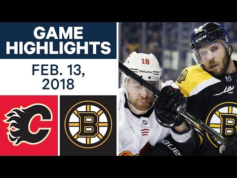 Video: NHL Game Highlights | Flames vs. Bruins - Feb. 13, 2018