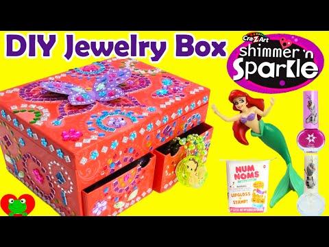 DIY Cra-Z-Art Mosaic Jewelry Box with Disney Princess Num Noms Surprises and More