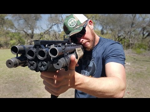Seeing a Bullet Shoot Out from a Homemade Quad Barrel Shotgun Is