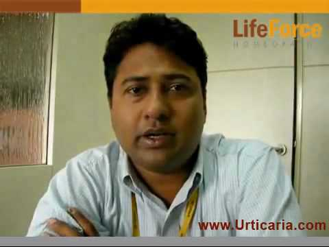 Urticaria Rashes on Back, Hands & Thighs Treated at Life Force