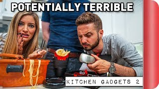 Reviewing Potentially TERRIBLE Kitchen Gadgets Ft. iJustine by SORTEDfood