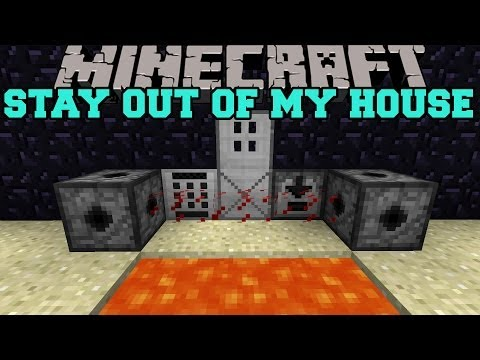 Minecraft: STAY OUT OF MY HOUSE (MINES, LASERS, AND KEYCODES) Security Craft Mod Showcase