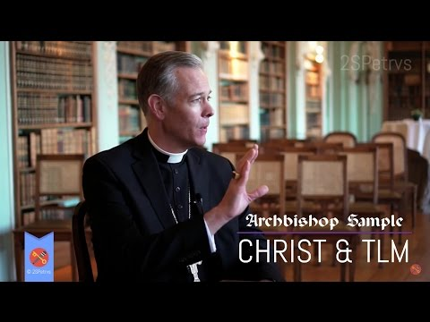 Archbishop Alexander Sample on his Motto, Christ and the TLM, Receives Gift!