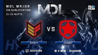 Effect vs Gambit, MDL CIS, game 1 [Mila, 4ce]