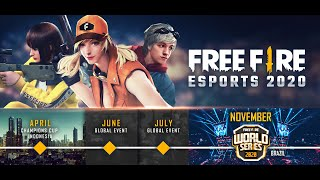 Free Fire Champions Cup and Free Fire World Series announced in exciting 2020 esports line-up