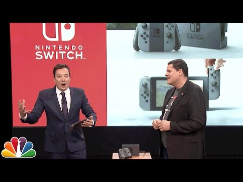 Jimmy Fallon Debuts the Nintendo Switch and Plays Super Mario
