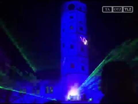 Eröffnung des Märchenmarktes in Gera mit Licht-Lasers ...