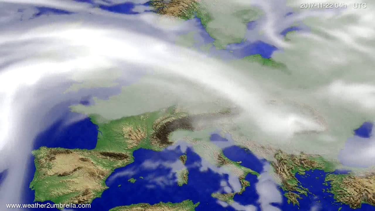 Cloud forecast Europe 2017-11-18