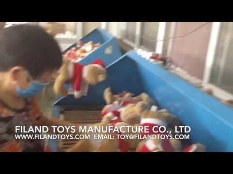 Blowing and Cleaning plush toy before packing and export-Filand Toys Manufacture Co., Ltd.