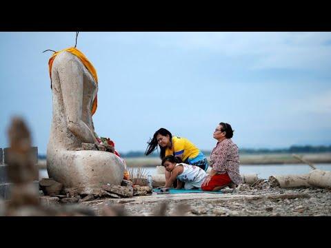 Thailand: Versunkener Tempel aufgetaucht - die Trocke ...