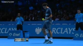 Tennis Highlights, Video - Roger Federer Vs Gasquet Barclays ATP World Tour Finals 2013 Group B 2nd Set
