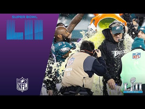 Video: Philly's Celebration After Final Play & the Gatorade Shower! | Eagles vs. Patriots | Super Bowl LII