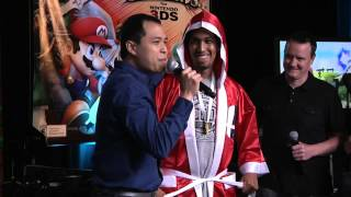 Larry's super excited reaction from winning the first Smash 4 3DS tournament