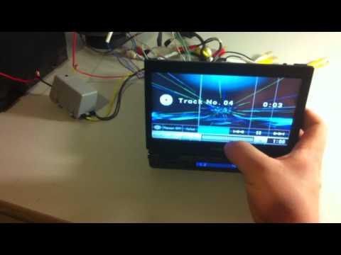 Sony XAV-A1 In-car DVD Player test... Touch screen