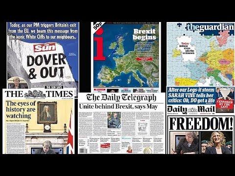 Το Brexit στα πρωτοσέλιδα του διεθνούς τύπου