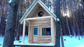 Video BUILDING a Small Cabin in the FOREST (ASMR) | Start-to-Finish MP3, 3GP, MP4, WEBM, AVI, FLV September 2019