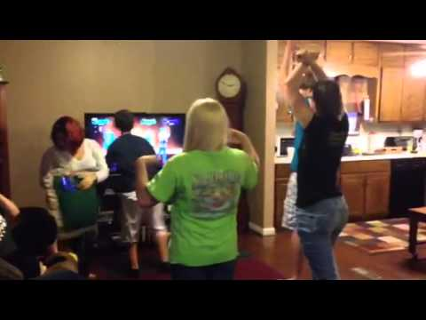 The Kids dancing at Scott's surprise party