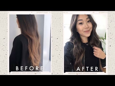 Hair cutting - FINALLY Cutting My Hair + Vegan Non-Toxic Haircare Routine