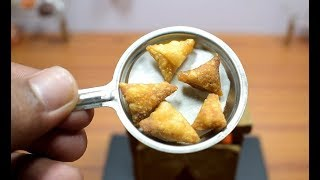 MINI FOOD - ONION SAMOSA I ASMR I INDIAN RECIPE I MDC
