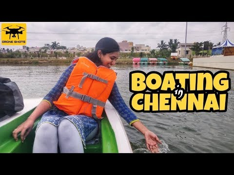 Boating in Chennai Avadi | Drone Shots | Family Eco Park with kids play zone