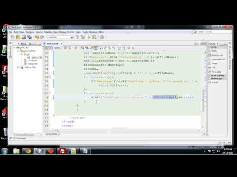 Learn to Build Mobile Apps from Scratch - Chapter 19 - Download a File