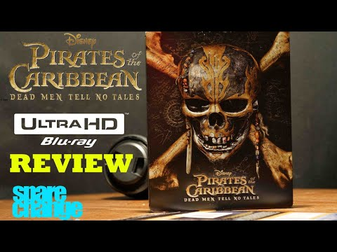 Pirates of the Caribbean: Dead Men Tell No Tales 4K/3D, Steelbook Bluray Review Unboxing Dolby Atmos
