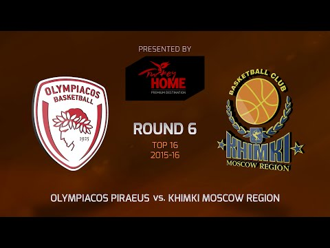 Highlights: Top 16, Round 6, Olympiacos Piraeus 89-77 Khimki Moscow Region