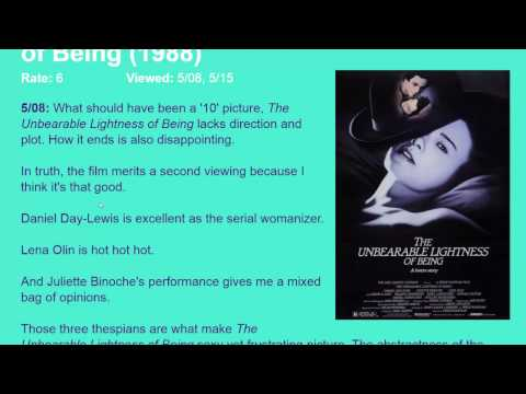 Movie Review: The Unbearable Lightness of Being (1988) [HD]