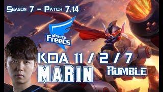 AFs MaRin RUMBLE vs EKKO Top Lane - Patch 7.14 KR Ranked ↓↓↓ Runes & Masteries ↓↓↓ GAME TYPE: Ranked Solo...