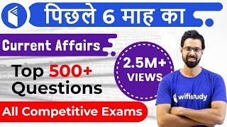 Last 6 Months Current Affairs 2019 | Top 500+ Current Affairs Questions