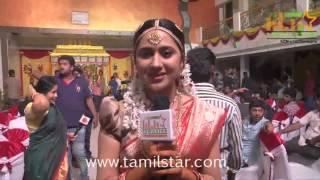 Mia George at Indru Netru Naalai  Movie Shooting Spot
