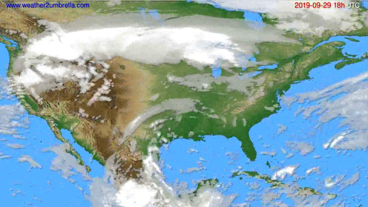 Cloud forecast USA & Canada // modelrun: 00h UTC 2019-09-27