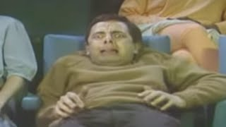 Mr Bean - Watching a horror movie