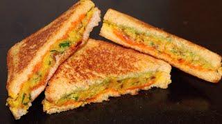 तवे पर ऐसी हैल्दी सैंडविच बनायेंगे तो बाकी सब सैंडविच खाना भुल ही जायेंगे | Masala Sandwich Toast