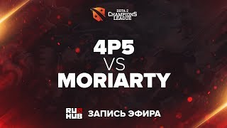 4p5 vs Moriarity, D2CL Season 12 [4ce, Inmate]