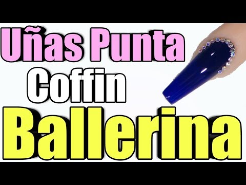 Uñas acrilicas - CLASE # 6 COMO REALIZAR UÑAS BALLERINAS / COFFIN