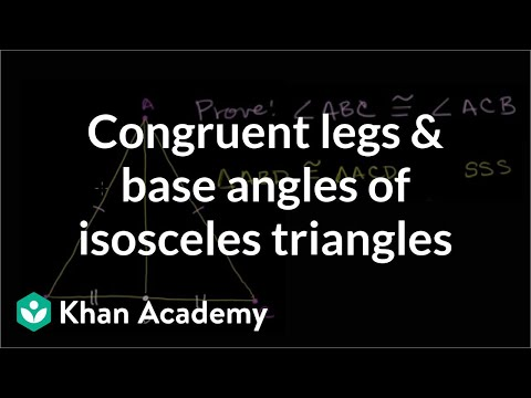 Proofs Concerning Isosceles Triangles Video Khan Academy